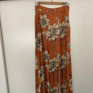 Anthropologie Floral Maxi Skirt